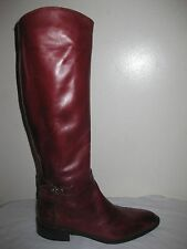 A. TESTONI  Femme Leather Burgundy Boots Shoes Sz 36.5 / 6, Made In ITALY!!!!!!