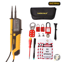 Martindale VT25 Voltage and Continuity Tester and MCB Lock Out/Off Kit LOS-K1