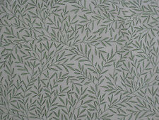 "WILLIAM MORRIS CURTAIN FABRIC DESIGN  ""Lily Leaf"" 3.75 METRES OLIVE 100% COTTON"