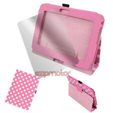 """CASE COVER+SCREEN PROTECTOR SLIM POUCH FLIP PU PINK DOT AMAZON KINDLE FIRE HD 7"""""""