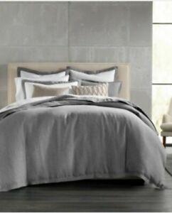 Hotel Collection Linen Full Queen Duvet Cover In Gray