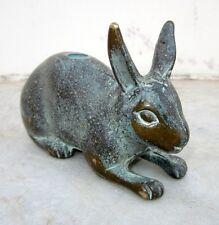 1850 Old Handmade Brass Metal Statue Of Big Size Rabbit Home Decorative Item