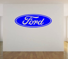 """Ford Logo WALL ART VINYL DECAL STICKER 36""""x13"""" CHOICE OF COLOR"""