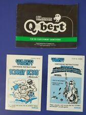 Lot of 3 Colecovision Instruction Manuals Donkey Kong QBert Cosmic Avenger