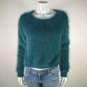 M Size Angora Top Short Sleeve Sweater Wool Top Casual Romantic Winter Jumper will fit S