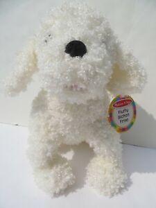 "Melissa & Doug Fluffy Bichon Frise Plush Puppy Dog Fluffy Stuffed Animal 12"" NEW"