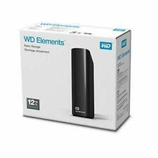 "12TB Disco Duro Externo De Escritorio WD Elements 3.5"", USB 3.0"