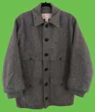 VINTAGE CC FILSON Double Mackinaw Cruiser Gray Wool Coat Size 42 Medium