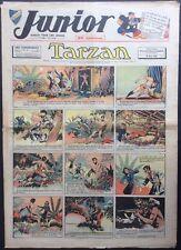 JUNIOR Le Journal de Tarzan fascicule n°164 du 18 mai 1939 État moyen