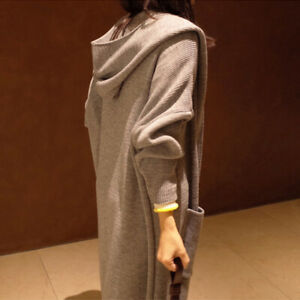 Womens Long Sleeve Casual Loose Long Dress Coat Jackets Cardigan Loose Coat  Top