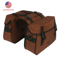 Tourbon Bicycle Double Pannier 2 Extendable Motorcycle Saddlebags Messenger Bags