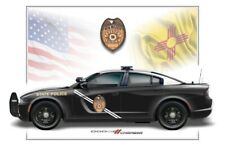 New Mexico State Police Dodge Charger Poster Print