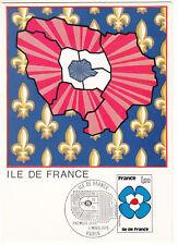 CARTE MAXIMUM FDC 1978 TIMBRE N° 1991 REGION ILE DE FRANCE