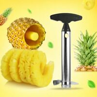 Fruit Pineapple Corer Slicer Peeler Cutter Parer Stainless Kitchen Easy Tool NO