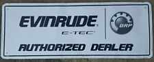 VINTAGE AUTHENTIC E-TEC  EVINRUDE BRP OMC METAL MOTOR BOAT SIGN