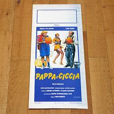 PAPPA E CICCIA locandina poster Paolo Villaggio Lino Banfi Milly Carlucci AL2