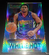 Rudy Gay 2013-14 Panini Select WHITE HOT SILVER PRIZM Insert Card (#'d 02/25)