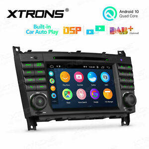 """7""""Autoradio DVD Player Android 10 GPS Navi BT5.0 DSP für Mercedes Benz W209 W203"""