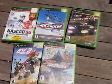 LOT OF 5 XBOX GAMES NASCAR 6 ATV 2 CORVETTE MX VS. ATV PRO BMX2