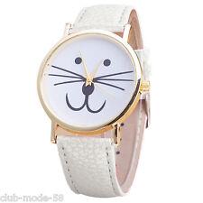 Quartz Watch Very Original for Women Cat to Moustaches