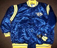 NASHVILLE PREDATORS NHL STARTER Satin Jacket Traditional BLUE Big Man's 4X 5X 6X