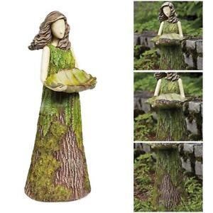 Sherwood Fern Fairy Statuary Garden Sculptures Bird Feeder Art Ornaments