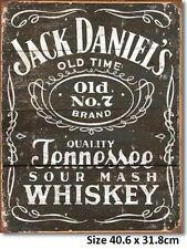 Jack Daniels WOODCUT  Logo Metal Tin Sign 1544 Licensed Sign. Made in USA4