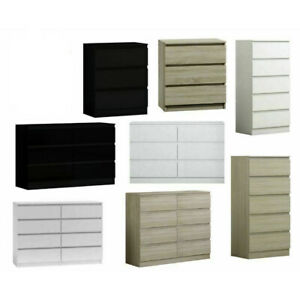 Modern Chest of Drawers & Bedsides White/Black/Grey/Oak/Sonoma - Fast Delivery