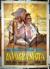 manifesto 4F film LA VOGLIA MATTA Ugo Tognazzi Catherine Spaak Luciano Salce '70