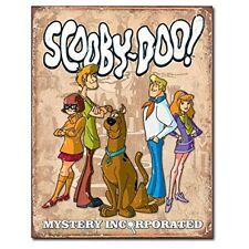 Scooby Doo Gang Looney Tunes Cartoon Weathered Retro Decor Metal Tin Sign New