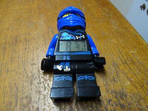 Lego Ninjago Jay Walker (blue Ninja) Alarm Clock Minifigure -New Duracell Batts.