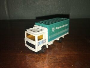 "1:87 1981 MATCHBOX VOLVO BOX TRUCK ""CO OP PEOPLE WHO CARE"" MADE IN CHINA"