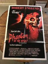 PHANTOM OF THE OPERA MOVIE POSTER Original 27x41 ROBERT ENGLUND 1989