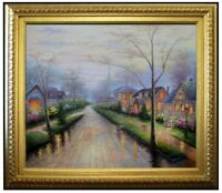 Framed, Quality Oil Painting Quiet Avenue in Morning 20x24in