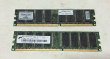 DDR-266 PC-2100 SDRAM DIMM RAM Lot (2 x 512MB)