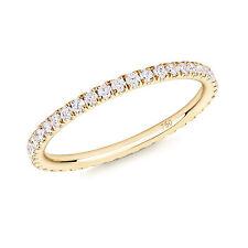 Diamond Full Eternity Ring in 18ct Yellow Gold UK SIZE J