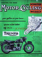 Mar 12 1959 TRIUMPH Thunderbird 650cc  Motor Cycle ADVERT - Magazine Cover Print