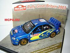 SUBARU IMPREZA WRC N°7 RALLY GREAT BRITAIN 2003 au 1/43°