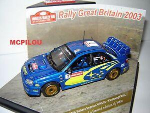 Speed 43104 Subaru Impreza WRC N°7 Rally Great Britain 2003 to the / Of 1 /43°