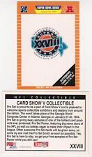 1994 Pro Set Super Bowl XXVIII Card Show V Promo