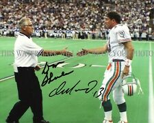 DAN MARINO AND DON SHULA SIGNED AUTOGRAPH 8X10 RPNT PHOTO MIAMI DOLPHINS LEGENDS