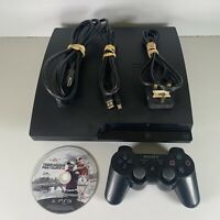 Sony PS3 Slim 160GB Console CECH-3003A Bundle 1 Controller 1 Games Cables Lead