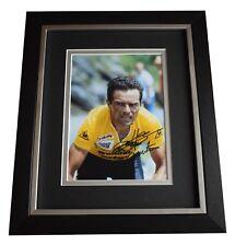 Bernard Hinault SIGNED 10x8 FRAMED Photo Autograph Display Cycling AFTAL & COA
