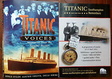 TITANIC VOICES Poster & Titanic Remembered