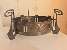 WMF Jugendstil Metal Centerpiece/Jardiniere  With Glass Insert Marked, Antique