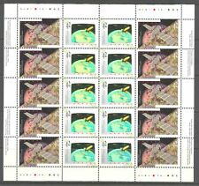 CANADA IN SPACE ON CANADA 1992 Scott 1442a SHEET OF 10 PAIRS, HOLOGRAM, MNH