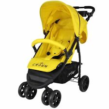 Crown Buggy gelb, Kinderwagen, Sportbuggy, Kinderbuggy, Jogger Reisebuggy