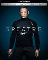 New Sealed 007 Spectre Steelbook 4K Ultra HD + Blu-ray + Digital Code