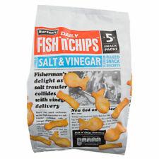 Burtons FISH and CHIPS Salt & Vinegar Snacks 25 x 25g Bags UK FREE SHIPPING