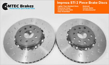 For Impreza Sti WRX Brembo Type Fit 2 Piece Lightweight MTEC Brake Discs 326mm